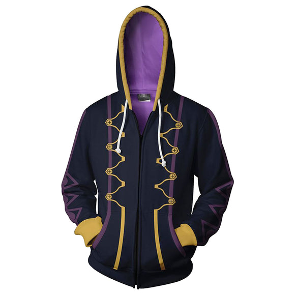 Fire Emblem Awakening Heroes Robin Daraen Cosplay Hoodie Black Zip Up Hooded Coat-Fandomsky