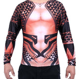 Men 3D Print T Shirts Aquaman Compression Shirt for Men's Tight Tops-Fandomsky