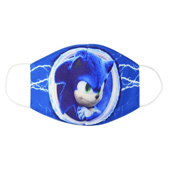 Adult Kids Sonic the Hedgehog Face Shield Dustproof Washable Reusable Mouth Shield Anti Dust Pollution Cosplay Props