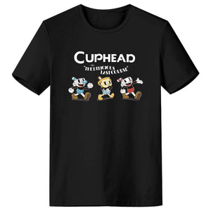 Cuphead: The Delicious Last Course Men's Short Sleeve Shirts T Shirts Tees