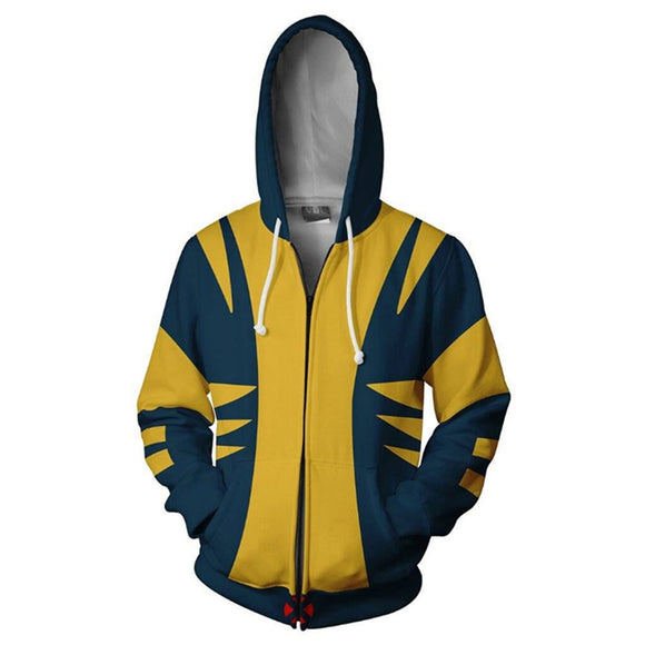 Marvel X-Men Wolverine Hoodie Hooded Sweatshirt Jacket-Fandomsky