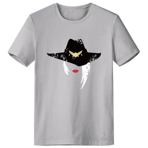 Overwatch Ashe Cosplay T-Shirt Round Neck Short Sleeve Tees Tops-Fandomsky