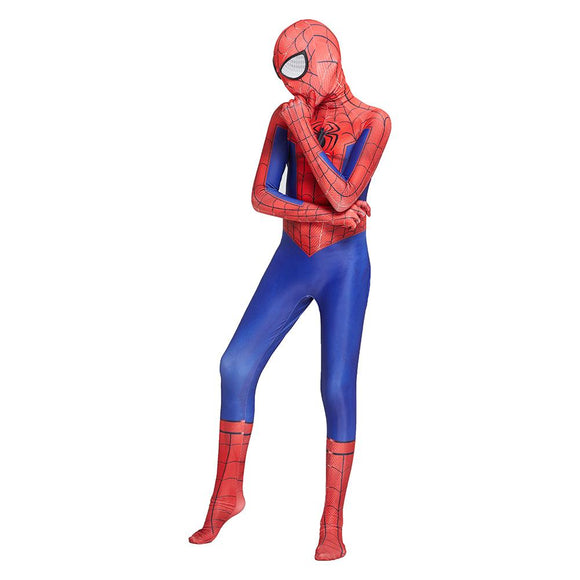 Kids Spider-Man Peter Parker Cosplay Costume Zentai Spiderman Superhero Bodysuit Halloween Jumpsuits