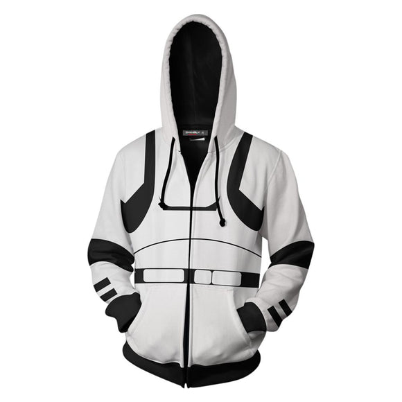 Unisex Stormtrooper Hoodies Star Wars Zip Up 3D Print Jacket Sweatshirt