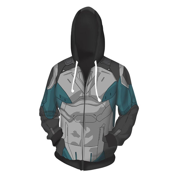 Unisex Julian Chase Hoodies Gen: Lock Zip Up 3D Print Jacket Sweatshirt