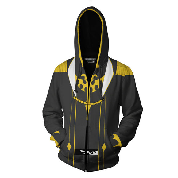 Code Geass Zero Hoodie Zip Up Jacket Coat Lelouch of The Resurrection Season 3 Cosplay Costume-Fandomsky
