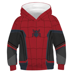 Unisex Toddler Kids Spiderman Pullover Hoodies Jacket Sweatshirt Costume-Fandomsky