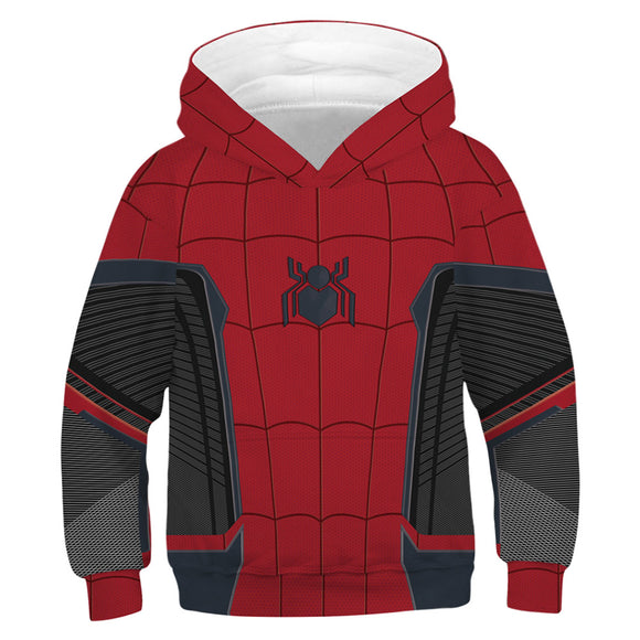 Unisex Toddler Kids Spiderman Pullover Hoodies Jacket Sweatshirt Costume