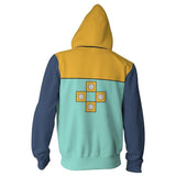 Teen Hoodie The Seven Deadly Sins Grizzly's Sin of Sloth King 3D Zip Up Sweatshirt Unisex-Fandomsky
