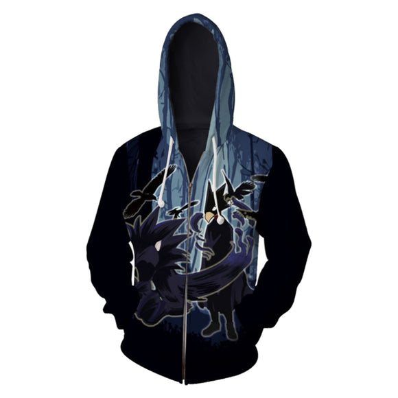 3D Print Unisex My Hero Academia Hoodie Zipper Up Sweatshirt Unisex Cosplay Costume