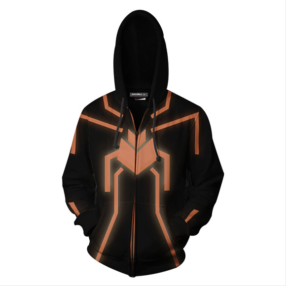 Invisible Spiderman 3D Hoodie Sweatshirts Jacket Zipper Coat Cosplay Costume