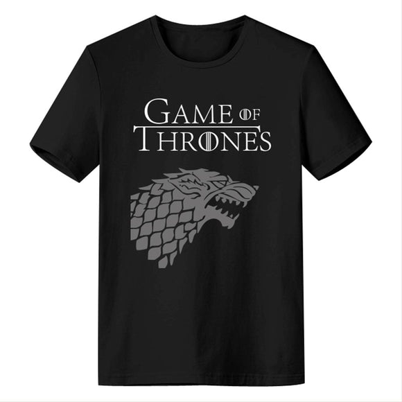 Game of Thrones - Stark Direwolf Sigil Bold Print - T-Shirt-Fandomsky