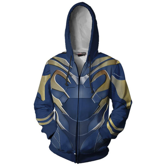 Iron Man Pepper 3D Print Hoodie Jacket Hooded Sweatshirt-Fandomsky
