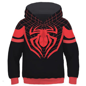 Little Boys Hoodie Spider-Man: Into the Spider-Verse Miles Morales 3D Pullover Sweatshirt Kids-Fandomsky