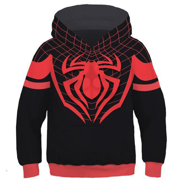 Little Boys Hoodie Spider-Man: Into the Spider-Verse Miles Morales 3D Pullover Sweatshirt Kids