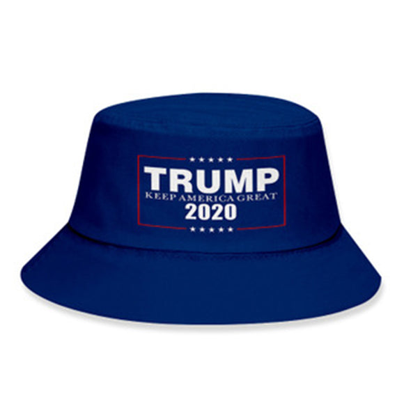 Unisex TRUMP KEEP AMERICA CREAT Print Fishing Hats Sunscreen Sun Cap Double-sided Spring Summer Fisherman Hat