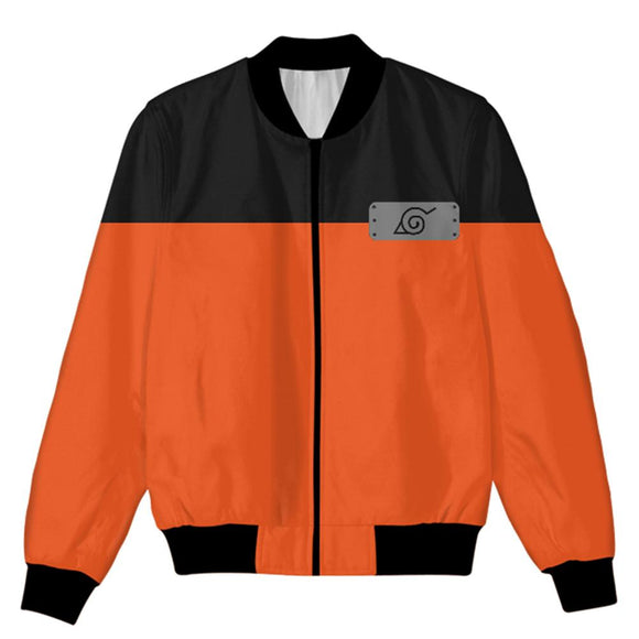 Unisex Naruto Coat Naruto Uzumaki Cosplay Zip Up Jacket Cosplay Costume