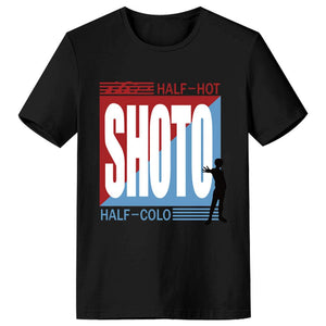 Boku No Hero Academia My Hero Academia Cosplay Shoto Todoroki Short Sleeve Tee Tops-Fandomsky