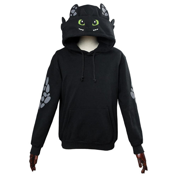 How to Train Your Dragon Toothless Cosplay Hoodie 3D Printed Thin Sports Jacket