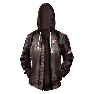 Cyberpunk 2077 Hoodie Hooded Sweatshirt Zipper Up Jacket Costume-Fandomsky