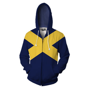 Unisex X-Men Dark Phoenix Hoodie Cosplay Costume 3D Pullover Pocket Sweatshirt Jacket-Fandomsky
