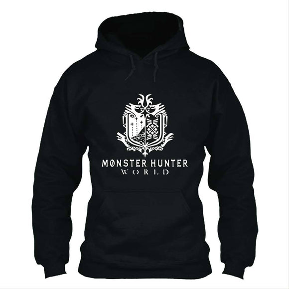 Unisex Vedio Game Hoodies Monster Hunter: World Logo Printed Pullover Jacket Casual Sweatshirt
