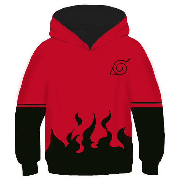 Kids 7TH Hokage Hoodies Naruto Pullover 3D Print Jacket Sweatshirt-Fandomsky