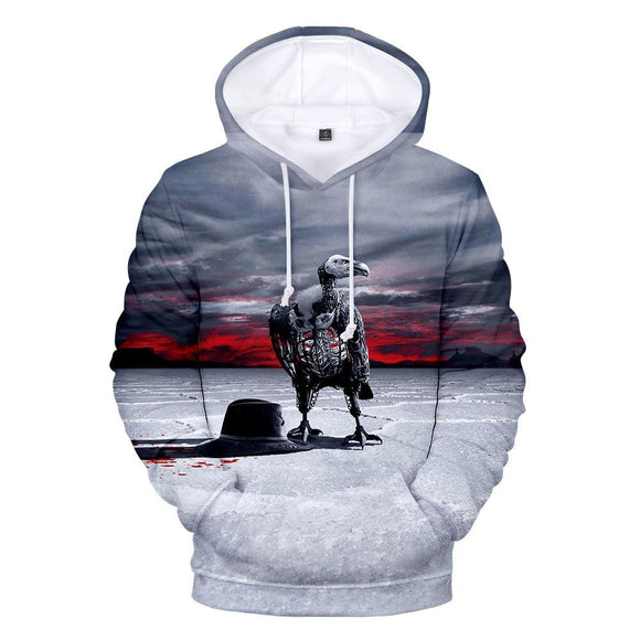Unisex Westworld Hoodies Teens Novelty Hooded Sweatshirts Spring Pullover Outerwear Sportswear