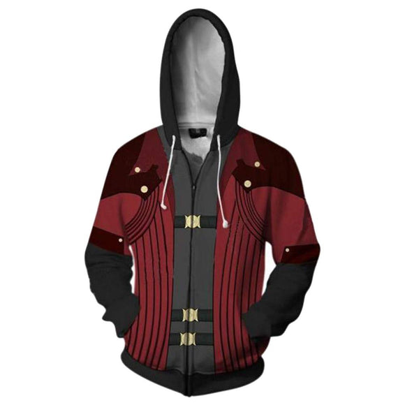 Devil May Cry Costume Dante Cosplay 3D Printed Hooded Jakcet-Fandomsky