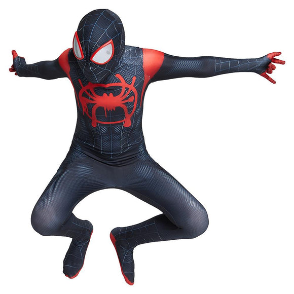 Kids Miles Morales Spiderman Costume Boys Girls Spider-Man Cosplay Costume Superhero Zentai Suit