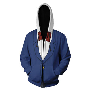 Men's Hoodie Case Closed Detective of Conan 3D Printed Zip Jacket Hoodie