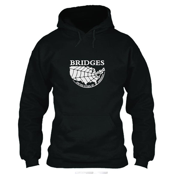 Unisex Death Stranding Hoodie Bridges United Cities of America Printed Hooded Pullover Sweatshirt