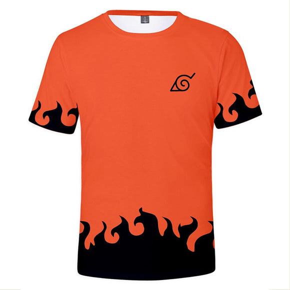 Unisex Tee Tops 3D Printed with The Anime Naruto T-Shirts-Fandomsky