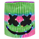 DJ Mashmellow Mask for Kids Adults, Christmas Halloween Costumes Decor Led Full Head Eco-Friendly Light Up Mask-Fandomsky