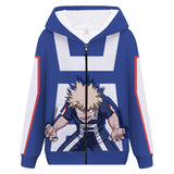Unisex Hooded Jacket Zipper Coat Boku No Hero Academia Hoodie Sweatshirt Anime My Hero Academy Cosplay Uniform