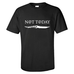 Game of Thrones Not Today Black T-Shirt Short Sleeve Casual Shirt-Fandomsky