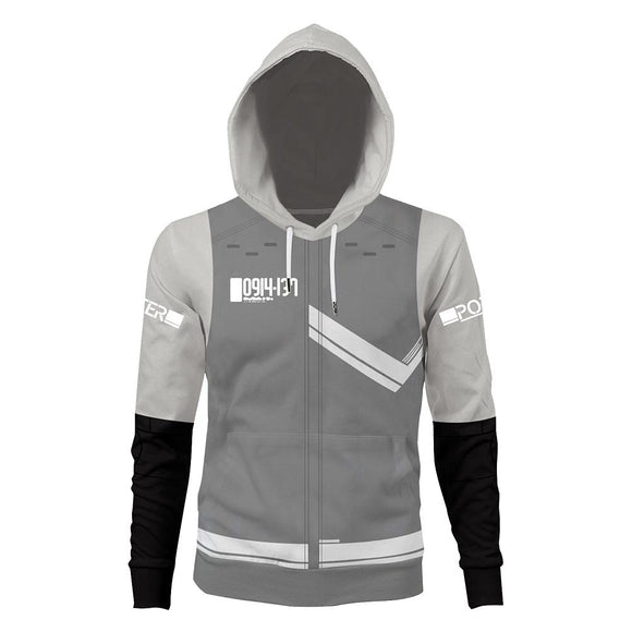 Unisex Sam White Uniform Hoodies Death Stranding Pullover 3D Print Jacket Sweatshirt