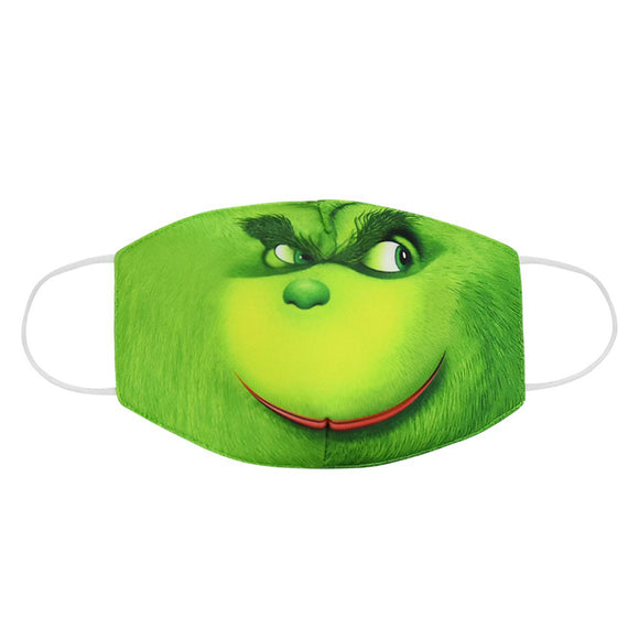 Adult Kids How the Grinch Stole Christmas Dustproof Face Mask Washable Reusable Mouth Masks