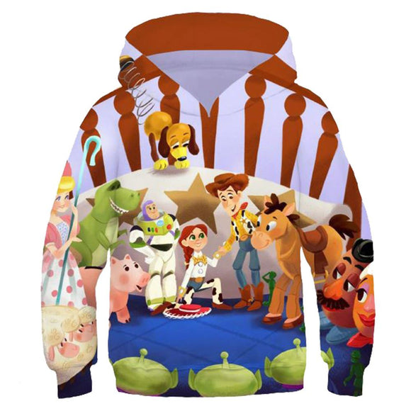 Kids Toy Story 4 Hoodies Simple Hip Hop Casual Pullover Coat Cosplay Clothing
