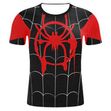 Adult Miles Morales Into The Spider-Verse T Shirts Costume-Fandomsky