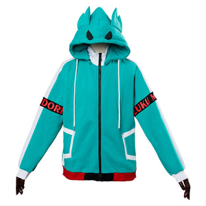 My Hero Academia Izuku Midoriya Hoodies Sweatshirt Cosplay Costume Jacket-Fandomsky