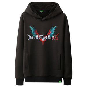 Devil May Cry 5 Cosplay Dante Ner-o Costume Adult Kids Pullover Hoodie Jacket-Fandomsky
