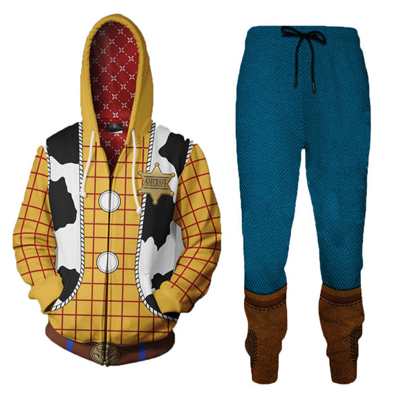 Unisex Woody Cosplay Costume Toy Story Cosplay Outfit Set-Fandomsky