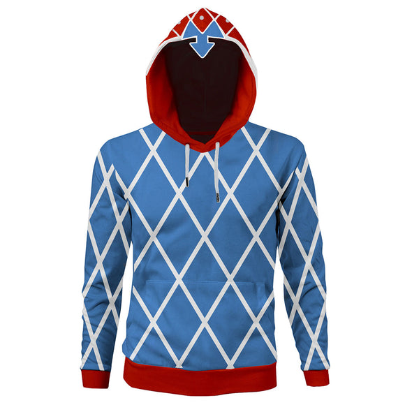 Unisex Guido Mista Hoodies JoJo's Bizarre Adventure Golden Wind Pullover 3D Print Jacket Sweatshirt