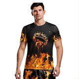 Men's T-Shirt Game-of-Thrones-Crown-Poster- Cotton Classic Short Sleeve for Men-Fandomsky