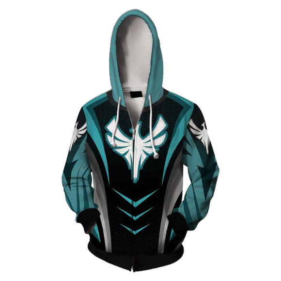 3D Print Unisex Rainbow Six Siege Long Sleeve Hoodie Zip Up Jacket