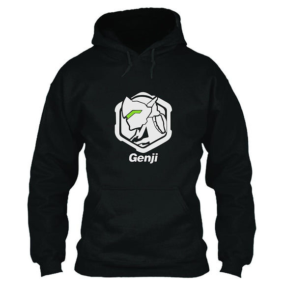 Unisex Overwatch Hoodie Genji Printed Hooded Pullover Sweatshirt Cosplay Costume