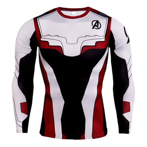 The Avengers Endgame Cool Quantum Realm Compression Shirt for Running Long Sleeve-Fandomsky