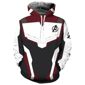 Avengers 4 Endgame 3D Sweater Digital Printing Quantum Realm Suit Hooide