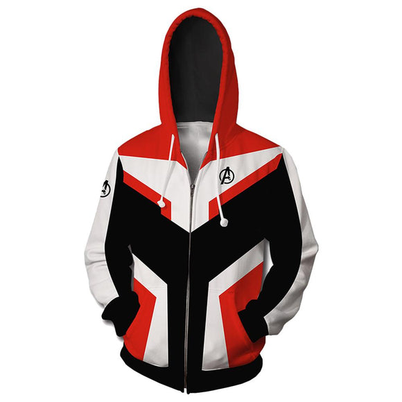 Avengers 4 Final Battle Quantum Warrior White Quantum Realm Suit 3D Sweatshirt-Fandomsky